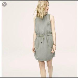 LOFT Lou & Grey Seamed Tank Army Green Mini Dress